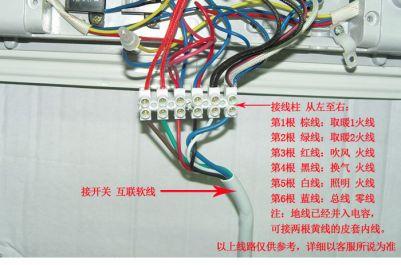碳纤维浴霸内部接线图